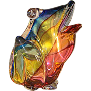 SOLD Glass frog by Archimede Seguso (1909-1999) dated at about 1970