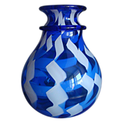 "Magnificent Murano blue glass vase "" La Fenice"" by Archimede Seguso 1909-1999"