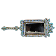 A very special and unusual Micro Mosaic hand mirror dated at the 19th century