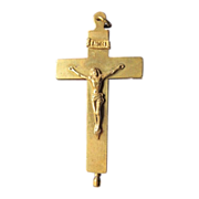 Antique reliquary crucifix pendant dated at the 19th century