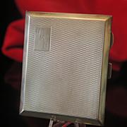 English  silver cigarette case, Birmingham ca.1860