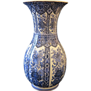 Blue and white vase with floral pattern, 1st half of 20th century