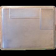 Antique silver cigarette case, 19th century