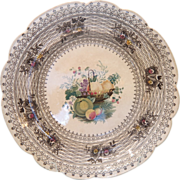 Plate by William Smith of Stockton on Tees with back stamp,ca.1840