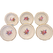 "A fine set of six Rosenthal saucers pattern ""Chippendale"", ca. 1930"