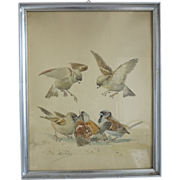 Water color painting, signed Kretznig, early 20th century
