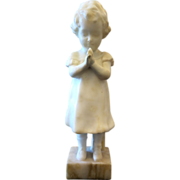Art Deco Goldscheider Alabaster figurine, signed and dated ca. 1915-1925