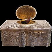 Silver Singing Bird Box by Karl Griesbaum ,Hallmarked and signed, ca.1920