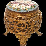 "Grand Tour Era Micro Mosaic lidded box ""Venezia"", 19th century"
