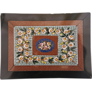 Grand Tour Era Micro Mosaic depicting colorful flowers,19th century
