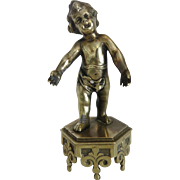 Vienna Bronze figure of a little boy, turn of the 20th century