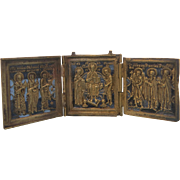 SOLD Antique Russian travelling Icon,19th century