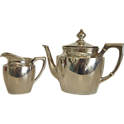 Antique silver tea service, hallmarked and dated ca. 1880