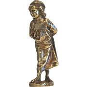 Art Nouveau Vienna Bronze figure of a little girl, ca. 1910