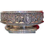 Antique silver jardiniere , hallmarked and dated at 1880