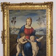 19th century Reproduction of Raphael´s Madonna del Cardellino,dated 1825 and signed
