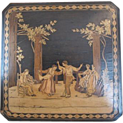 Antique wooden box from Lake Como in Italy, 19th century