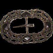 HUGE Black Metal Victorian Belt Bucklet