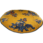 Linen & Wool Embroidered Crewel Round Tablecloth