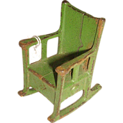 Kilgore Cast Iron Rocking Chair Doll House Furniture