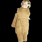 Very Old Miniature Dollhouse China Head Doll