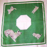 Vintage Kitty Cat Printed Handkerchief