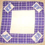 Vintage All Cotton Scottie Dog Handkerchief