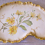 Victorian Hand Painted Porcelain Dresser Tray Artist Signed Limoges