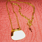 Trifari Mod Cream Lucite Necklace