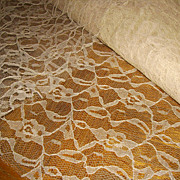 Vintage Uncut Chantilly Net Lace Yardage (11 yards)