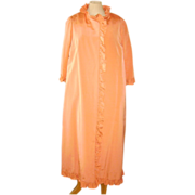 1960s Sybil Connolly Coral Silk Evening Jacket