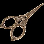 Antique Sterling Handled German Sewing Scissors
