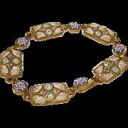 Early Italian Pastel Micro Mosaic Bracelet