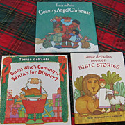 SALE Illustrator Tomie DePaolas Hardcover Book Set Of Three