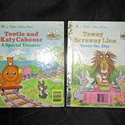 "SALE Special ""Little Golden Book Land"" Golden Books Set of Two"