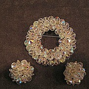 Gorgeous Laguna Pin And Earring Set