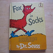 "Early Edition Beginner Books Dr. Suess ""Fox In Socks"""