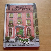 """SOLD 1967 First Edition """"The Story Of Zachary Zween"""" Mabel Watts Children Book - Red"""