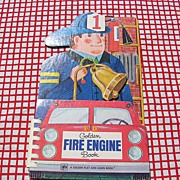 SALE 1969 Golden Play and Learn Fire Engine Book