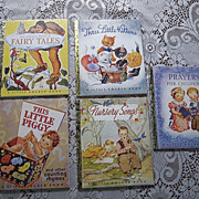SALE Little Golden Book 50th Anniversary Set of Five