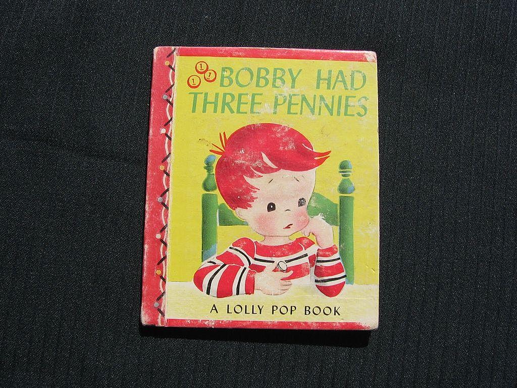 "Rare ""Bobby had Three Pennies"" Mini Lolly Pop Children Book"