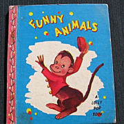 "SALE 1949 ""Funny Animals"" Lolly Pop Mini Books"