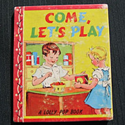 """SALE Hard to Find 1943 """"Come Let's Play"""" Mini Lolly Pop Book"""