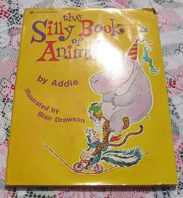 """Rare First Edition Large Golden Book  """"The Silly Book Of Animals"""""""