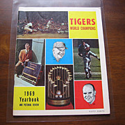 SALE 1969 Tigers World Champions Baseball Yearbook