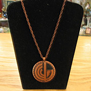 1950's Solid Copper Southwest Design Necklace-Book Piece