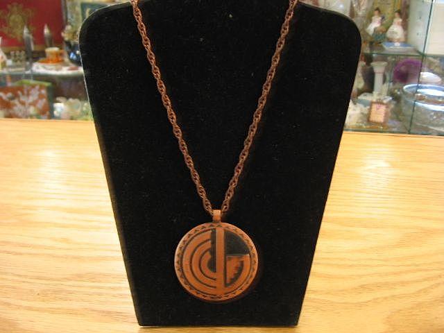 1950's Solid Copper Southwest Design Necklace-Book Piece