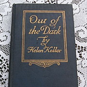 "SALE 1913 Helen Keller's ""Out Of The Dark"" Book"