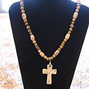 SALE Quality Beaded Cross Necklace