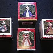 SALE Hallmark Keepsake Barbie Set Of Four Ornaments